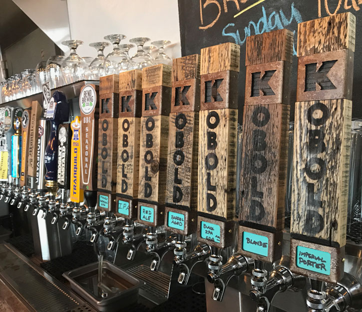 tap handles at kobold brewing vault taphouse